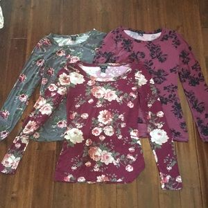 Floral Long Sleeve Tops